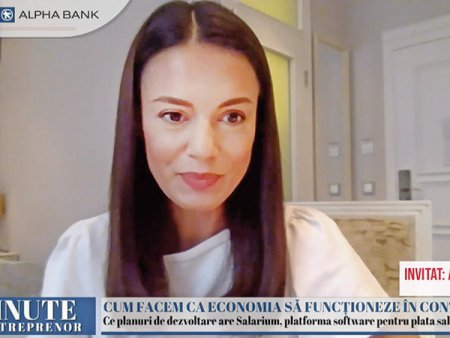 ZF 15 minute cu un antreprenor, un proiect realizat de Ziarul Financiar si <span style='background:#EDF514'>ALPHA BANK</span>. Alina Stefan, CEO al Salarium: Companiile platesc salariile o data pe luna, dar 70% din angajati raman fara bani de la un salariu la altul