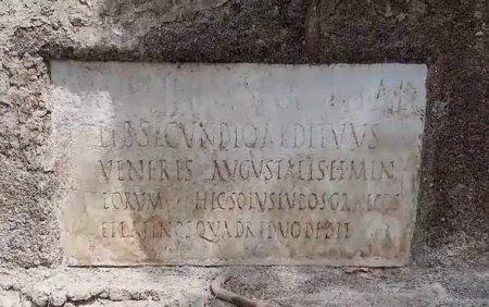Arheologii au gasit primele dovezi care atesta ca limba <span style='background:#EDF514'>GREACA</span> a fost folosita in Pompei