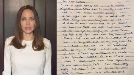 <span style='background:#EDF514'>ANGELINA JOL</span>ie a postat o scrisoare emotionanta primita de la o adolescenta din Afganistan
