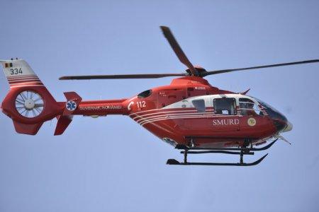Misiune de salvare a unui belgian accidentat in <span style='background:#EDF514'>MUNTII FAGARAS</span>. Pacientul a fost preluat cu un elicopter SMURD