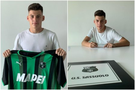 Un tanar fotbalist roman a semnat cu Sassuolo