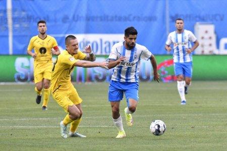 Liga 1: CS U Craiova - Gaz Metan 1-0. Victorie cu emotii pentru echipa lui Laurentiu Reghecampf, in etapa a sasea