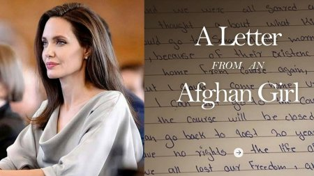 Scrisoarea emotionanta a unei adolescente din Afganistan catre <span style='background:#EDF514'>ANGELINA JOL</span>ie