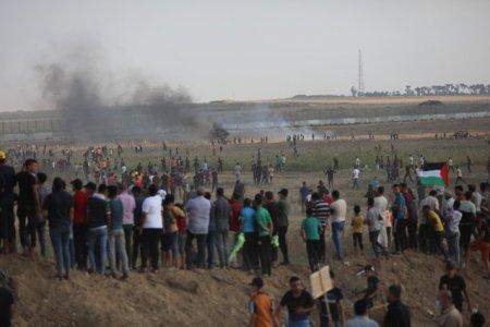 Israelul a atacat pozitii din Fasia <span style='background:#EDF514'>GAZA</span>, dupa violente produse la granita, soldate cu zeci de raniti