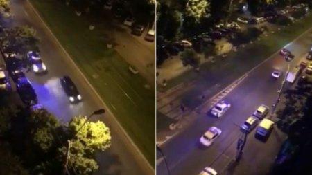 Sofer cu BMW de Germania, urmarire cu impuscaturi, <span style='background:#EDF514'>FILMATA</span> in Bucuresti: Mama, ce trage!