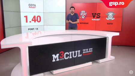 Meciul Zilei FC Botosani - Rapid. Trei <span style='background:#EDF514'>PONTURI</span> interesante pentru duelul din Moldova