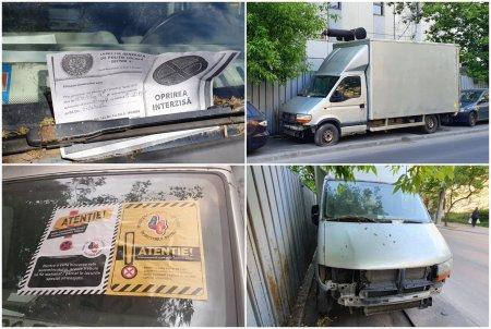 INEDIT. Cum arata viata fara griji a unei dube parasite din Bucuresti, orasul cu mii de masini epave