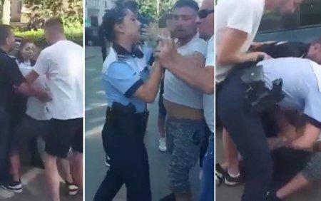 Barbatul din Botosani care a lovit o <span style='background:#EDF514'>POLITISTA</span> a fost plasat in arest la domiciliu