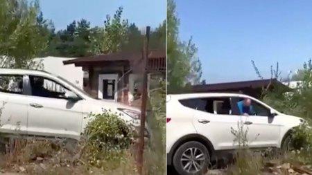 Un sofer din Baia Mare a intrat cu masina in curtea unui localnic. Era la un pas sa produca o tragedie