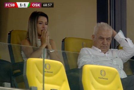 Sora lui Edi Iordanescu a trait la intensitate maxima meciul! Cum a fost surprinsa in tribune