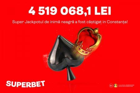 SuperJackpotul de inima neagra in valoare de 4,5 Milioane de lei a fost lovit in weekend la Superbet