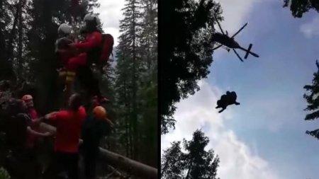 Misiune de salvare deosebit de dificila in <span style='background:#EDF514'>PIATRA CRAIULUI</span>: Un barbat cu experienta in ascensiuni montane a cazut in gol aproape 30 de metri