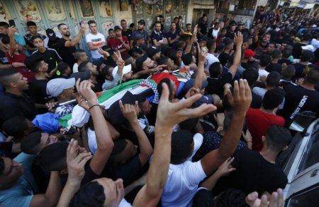 Adolescent <span style='background:#EDF514'>PALESTINIAN</span>, ucis in confruntari cu militari israelieni, in Cisiordania