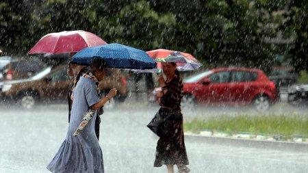Cod galben de vreme rea in jumatate de tara, pana joi dimineata: ploi torentiale, vijelii si grindina