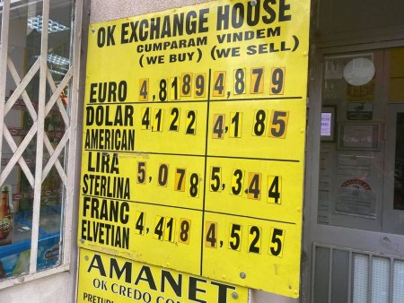 Curs valutar miercuri, 25 august. Leul se incapataneaza sa nu atinga valoarea de 4,95
