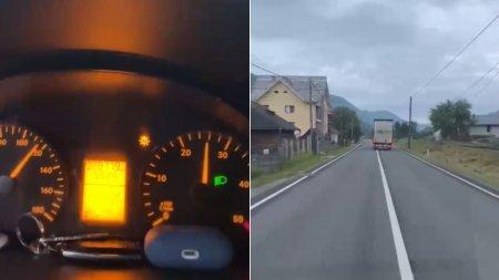 Sofer roman de TIR filmat cand conduce cu 120 de km/h <span style='background:#EDF514'>IN MARAMURES</span>: Este inadmisibil!