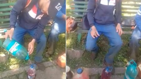 Muncitor <span style='background:#EDF514'>GALATEAN</span>, prins cand invata un coleg nepalez sa fure de la serviciu: Little benzin, no problem
