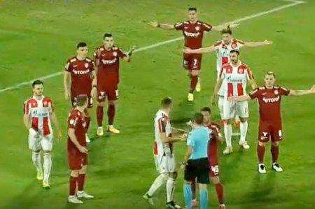 Ce s-a intamplat la faza penalty-ului din CFR Cluj - Steaua Rosie Belgrad! Explicatia arbitrului Michael <span style='background:#EDF514'>OLIVER</span>