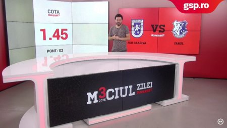 Meciul Zilei FCU Craiova - Farul Constanta. Duelul antrenorilor Mutu - Hagi