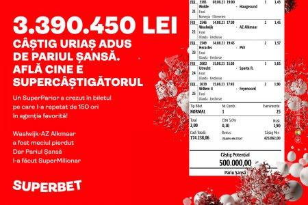 NOU RECORD NAȚIONAL! 3.390.450 LEI CAȘTIG IN AGENȚIILE SUPERBET! Citeste interviul exclusiv cu SuperMilionarul!