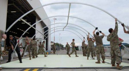 Baza americana de la Ramstein, transformata in tabara de refugiati afgani