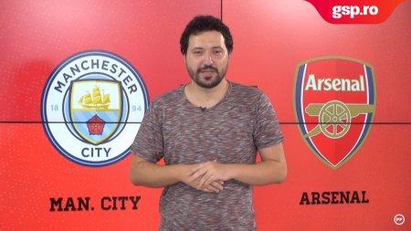 Meciul Zilei Manchester City - Arsenal. Tunarii cauta primul punct in Premier League din acest sezon