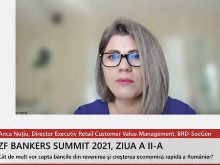 ZF Bankers 2021. Anca Nutiu, BRD: Am avut peste 50.000 de clienti care au beneficiat de amanarea ratelor la credite la finalul perioadei in care s-au putut depune cereri