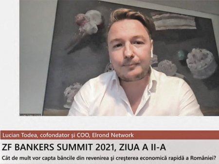 ZF Bankers 2021. Lucian Todea, Elrond Network: Exista trei abordari posibile pentru un leu digital. Blockchainul ar putea aduce inovatie in zona de back-end a sistemelor bancilor, asa cum fintech-urile au influentat zona de front-end
