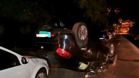 Un sofer beat a avariat 4 autoturisme parcate pe o strada din <span style='background:#EDF514'>SLOBOZIA</span>