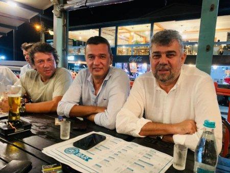 Ciolacu si Grindeanu, filmati band shot-uri de tequila la o terasa in <span style='background:#EDF514'>VAMA VECHE</span>
