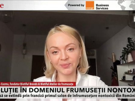 ZF Live. <span style='background:#EDF514'>ANGELINA</span> Cozma, Biotiful Brands: Speram sa ajungem la afaceri de 1,5 milioane euro. Metodele de infrumusetare nontoxice sunt din ce in ce mai cautate pe piata locala