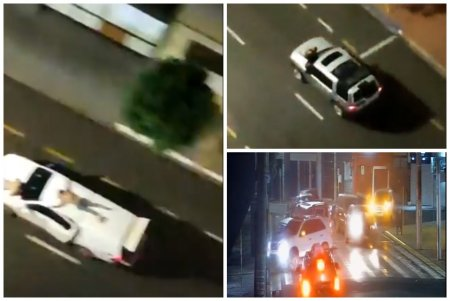 Ostatici legati pe masini, in timpul unui jaf bancar de proportii din Brazilia. Trei persoane au murit in schimbul de focuri