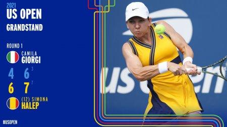 Simona Halep, victorie in primul tur la US Open