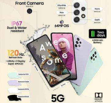 Samsung a imbunatatit functiile de <span style='background:#EDF514'>DIVERTISMENT</span> la Galaxy A52s 5G
