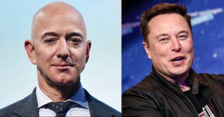 Elon <span style='background:#EDF514'>MUSK</span> il ironizeaza pe Jeff Bezos: Cum a inceput rivalitatea dintre cei doi miliardari