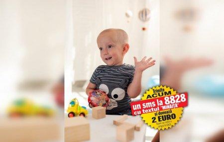 Boala l-a tintuit pe Mihaita intr-un scaun cu rotile. Șansa copilului cu amiotrofie spinala e un tratament genetic de 2.100.000 de dolari