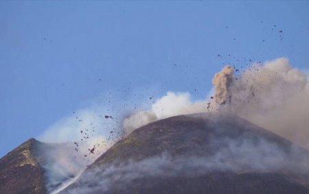 O noua eruptie masiva a vulcanului Etna, a fost inregistrata la sfarsitul saptamanii