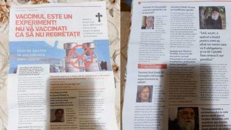Revista cu stiri anti-vaccin, distribuita in Alba. deschis un dosar penal
