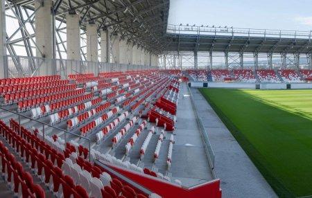 Noi imagini cu stadionul de Liga 1 care va fi inaugurat peste o luna » Arena arata spectaculos