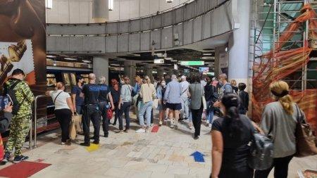 Circulatie ingreunata la metrou, in urma unui incident la Piata Romana. Anuntul facut de Metrorex