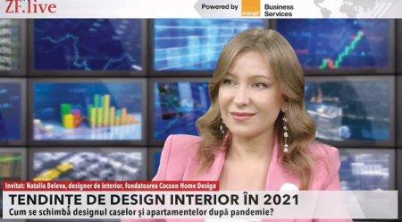 ZF Live. Natalia Beleva, Cocoon <span style='background:#EDF514'>HOME</span> Design: Dupa pandemie, oamenii vin cu mai multe solicitari de designer interior, atunci cand isi amenajeaza locuinta. Sunt multe cereri si pentru crearea unui birou acasa