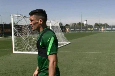Primul antrenament al lui <span style='background:#EDF514'>KESERU</span> la FCSB » Se pregateste pentru derby-ul cu Dinamo