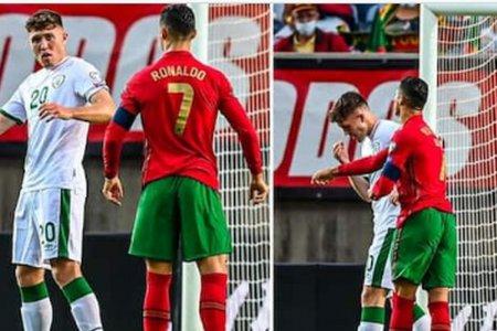 Gestul pe care Ronaldo il vrea uitat, in seara in care a intrat definitiv in istorie » Cristiano a palmuit un adversar, dar a fost iertat de arbitru