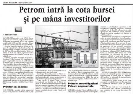 20 de ani de la listarea Petrom: Crestere de aproape 10 ori a capitalizarii, randament anualizat de 14,2%, o <span style='background:#EDF514'>PRIVATIZA</span>re strategica ca importanta pentru Romania si includerea in curand in indicii FTSE Russell