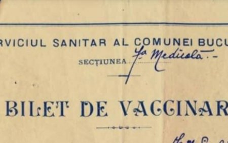 Cum arata o <span style='background:#EDF514'>ADEVERINTA</span> de vaccinare acum 111 ani