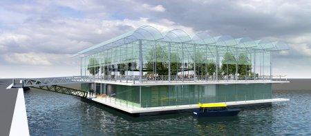 Cum arata prima ferma plutitoare din lume. Vacile pasc la etajul al treilea