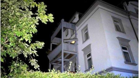 Un balcon plin cu oameni s-a prabusit in timpul unei petreceri din Germania. Sunt 9 raniti