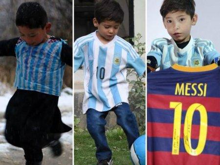 Afganistan. Mur<span style='background:#EDF514'>TAZA</span> Ahmadi, copilul care a primit tricou de la Messi, ii cere starului ajutor pentru a scapa de talibani
