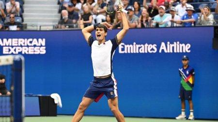 US Open 2021. Spaniolul Carlos Alcaraz l-a eliminat pe grecul Stefanos Tsitsipas dupa un meci epic