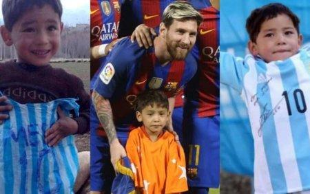 Apel disperat din partea copilului afgan care a primit un tricou de la Messi. Va rog, salvati-ma